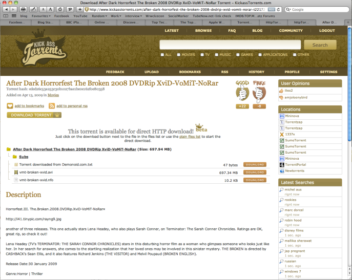 Kickass Torrents | Ramblings Of A Young Economist